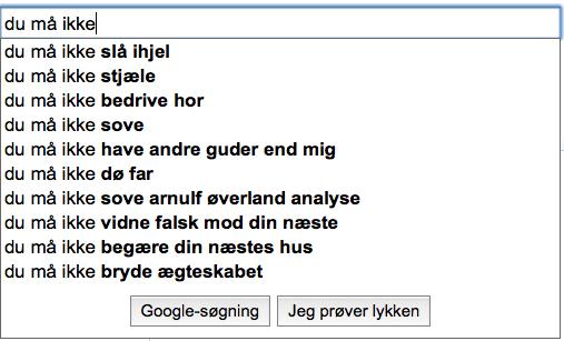 søgemaskinernes 10 bud - Google