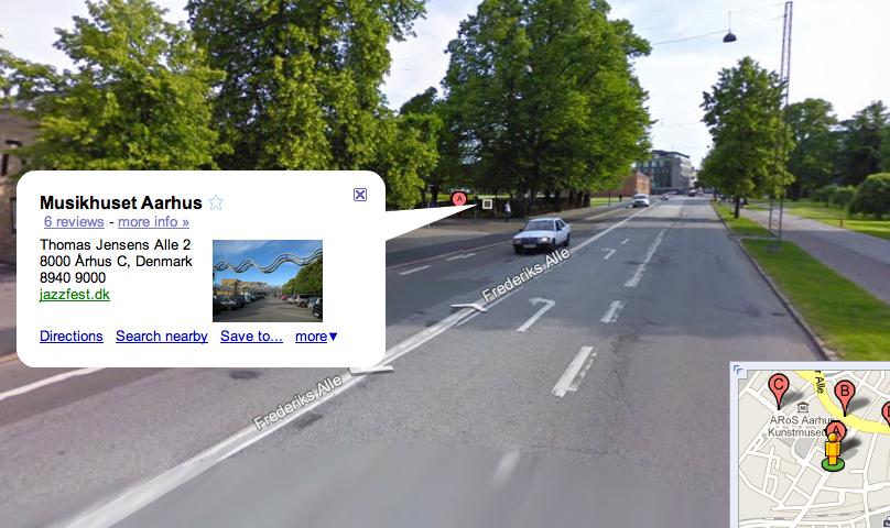 Google Places i Streetview - Musikhust i Århus