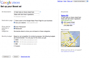 Google Places - Boost