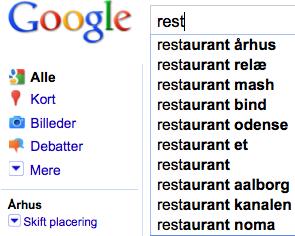 Google suggest århus