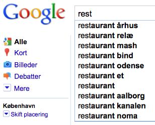 Google suggest København
