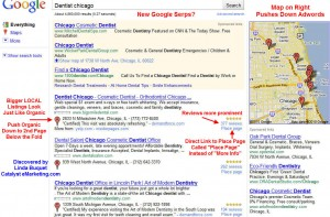 Google tester ny local search design