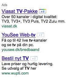 Google AdWords Plus One