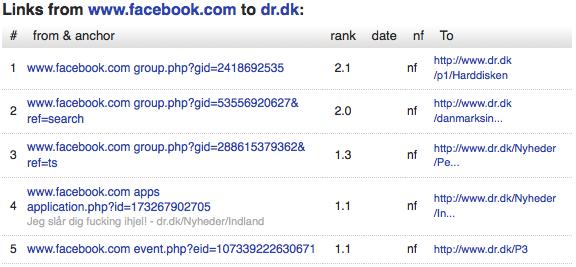 domainlinks blekko