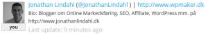 TwitterCounter Jonathan Lindahl