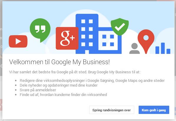 velkommen til Google my business